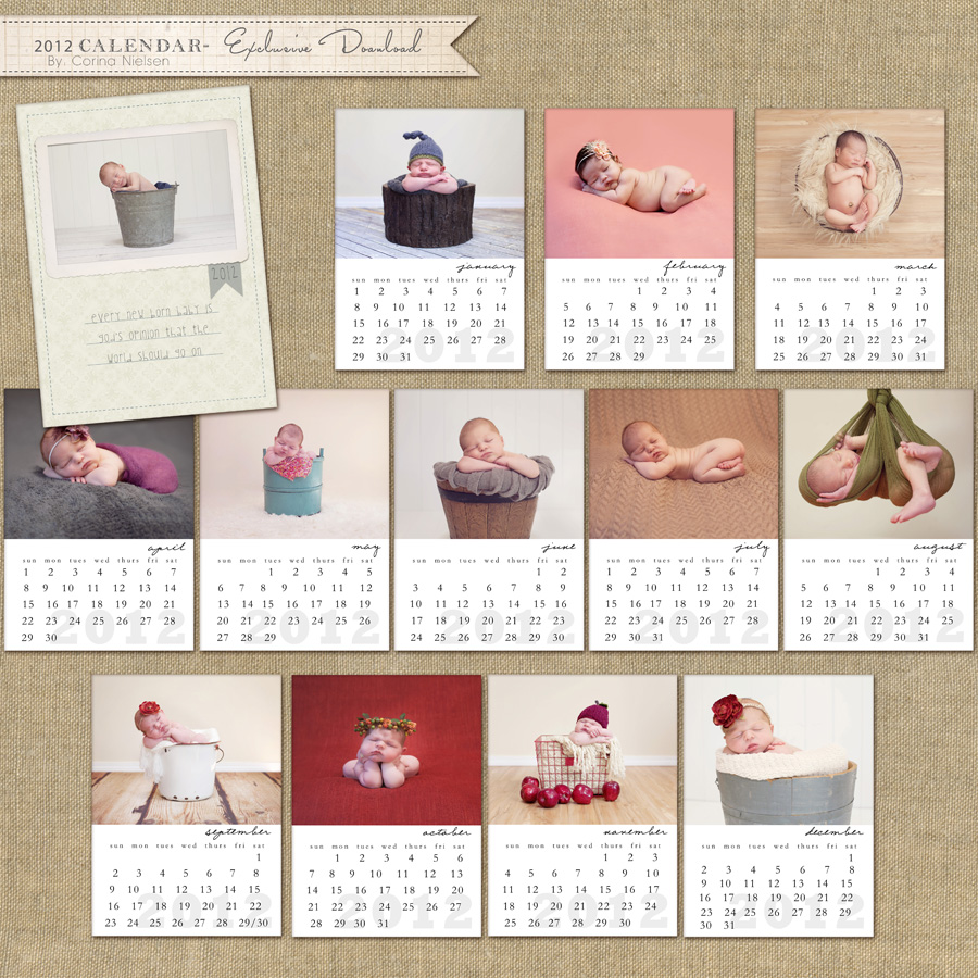 Calendar Design Baby : New products my first exclusive free download