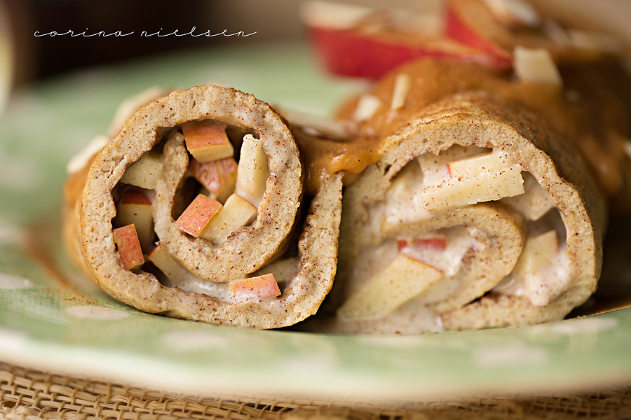 Caramel Apple Roll-Ups Recipe — Dishmaps
