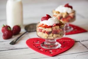 Strawberry Pancake Shortcake Parfaits