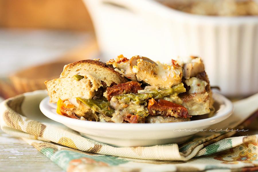 Corina Nielsen- Italian Sausage & Sundried Tomato Strata-6