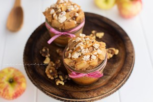 Apple Pie Cake in a Jar