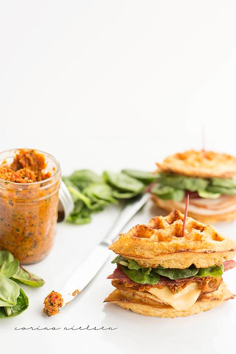Corina Nielsen- Cheddar Bacon Waffle Sandwiches-2