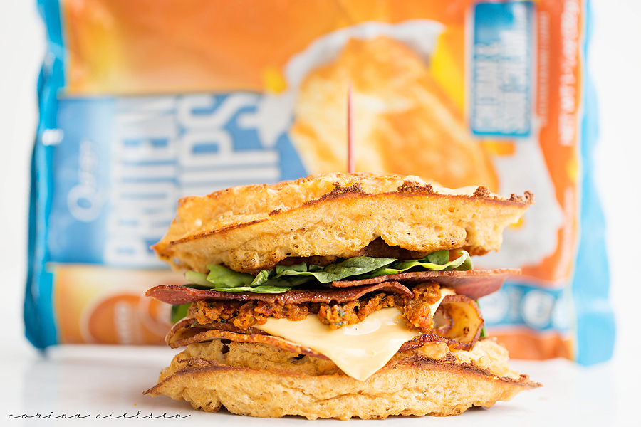 Corina Nielsen- Cheddar Bacon Waffle Sandwiches-5