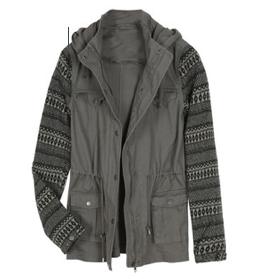Kennedi Knit Sleeve Cargo Jacket