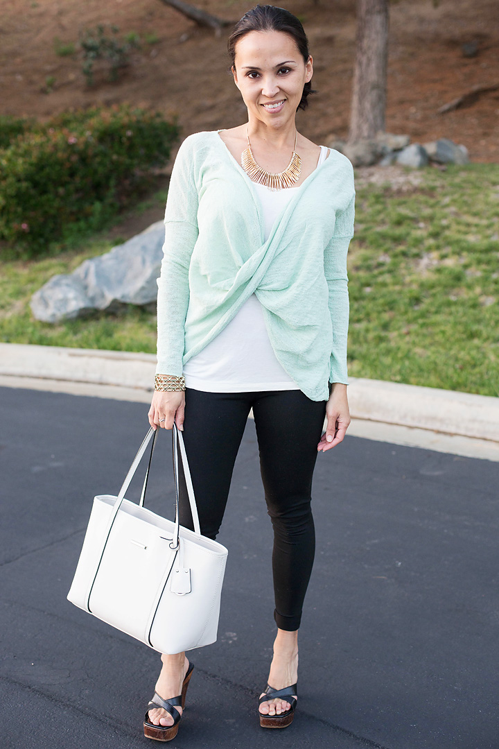 Dressing up basic black leggings