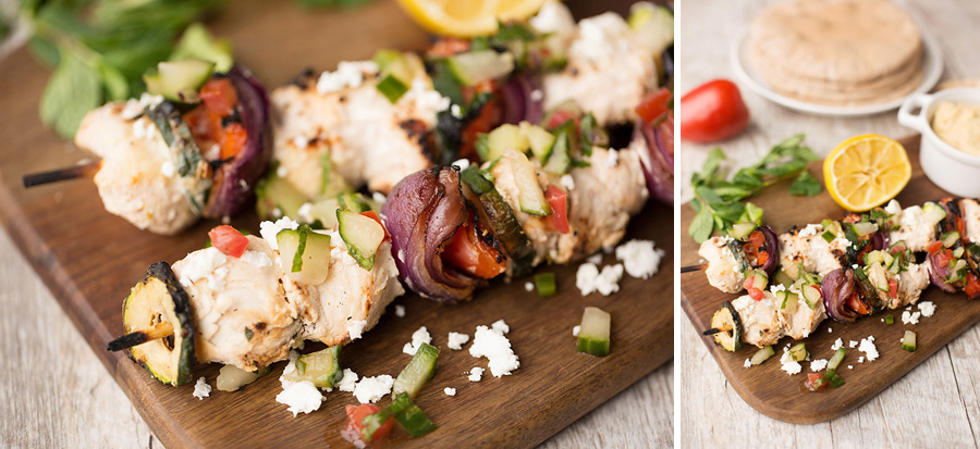 Healthy Greek Chicken Kabobs