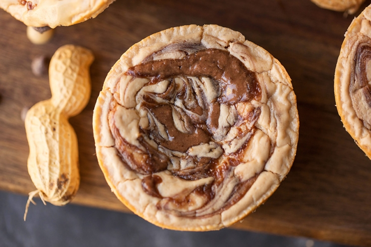 Peanut Butter Swirl Protein Cheesecakes