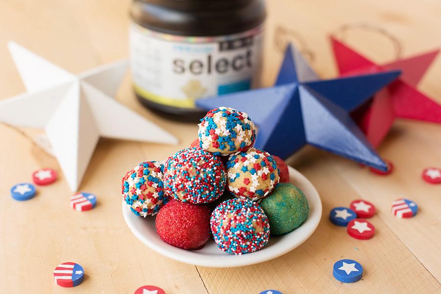 Sugar Cookie Protein Truffles
