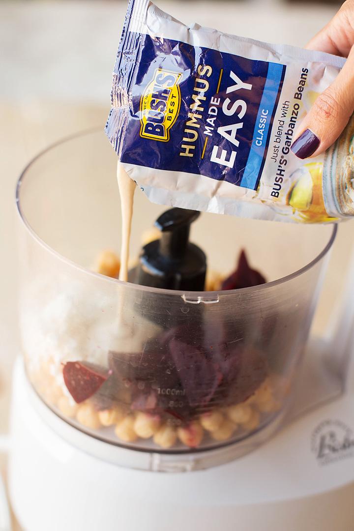 Easy Beet Hummus