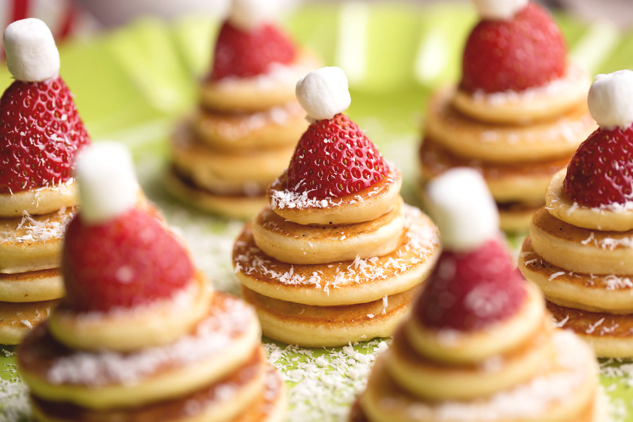 Santa Hat Pancakes