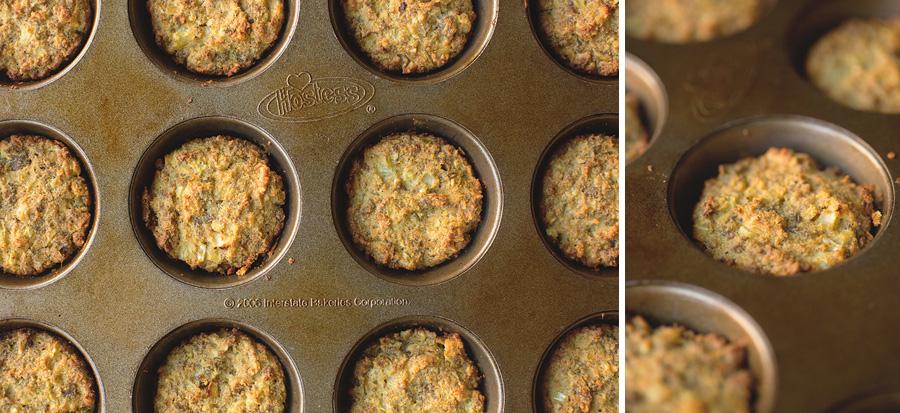 Keto Breakfast Sausage Cauliflower Muffins
