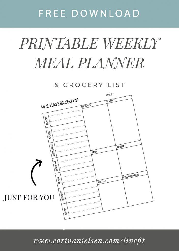 2019 Meal Plan: Week 1 - Nourish   Empower   Fulfilled